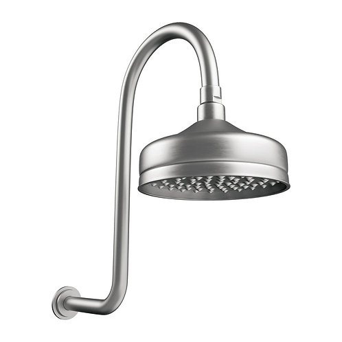LILLIAN Wall Arm Shower Set, Brushed Nickel