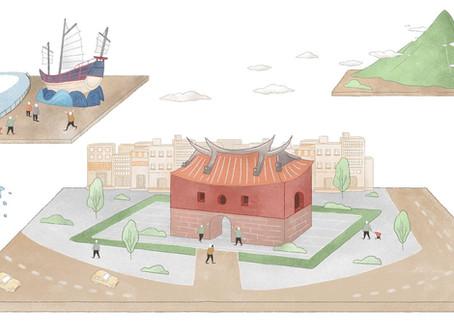 【臺北城.時光旅】旋轉十三度的北門   臺北城的風水軸線
