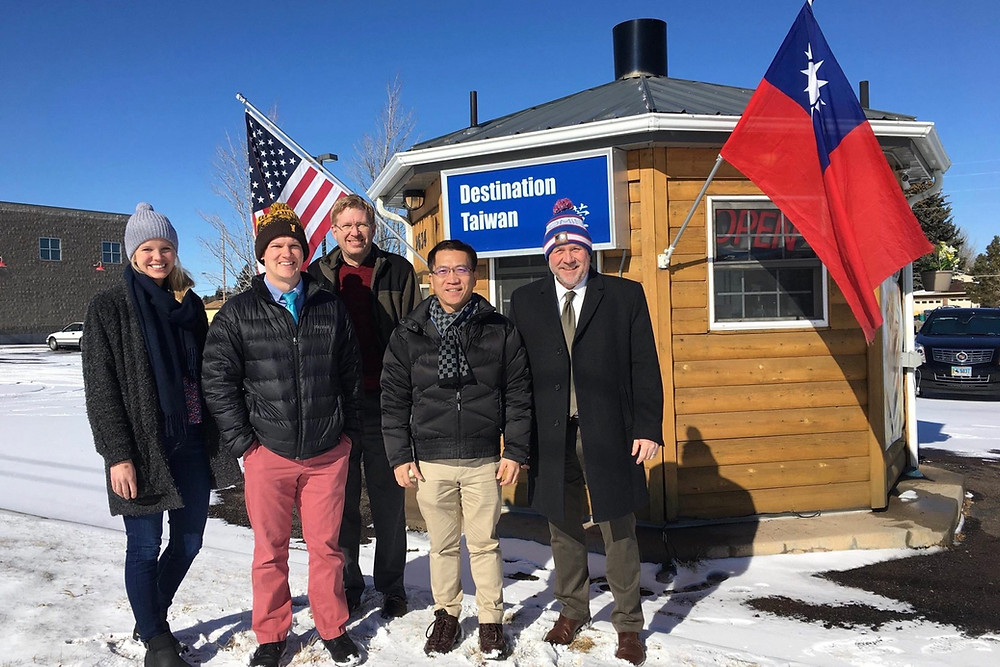 Mr. Chester Chu along with Wyoming Business Council officials squeezed in lunch at the Destination Taiwan hut for traditional sweet and savory dumplings in Cheyenne. Chester said they were the real deal.