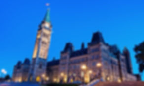 Canada Parliament Building in Ottawa, On