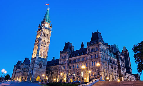Canada Parliament Building in Ottawa, On