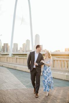 Margaret Hunt Hill Bridge Dallas Engagem