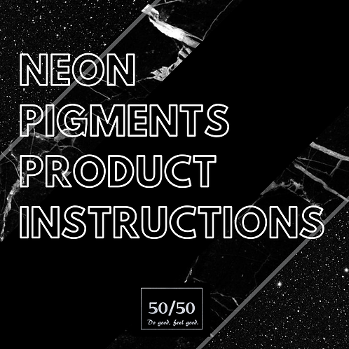 Neon Pigments Product Instructions