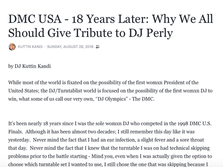 DMC USA - 18 Years Later: Why We All Should Give Tribute to DJ Perly