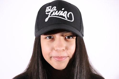 Black  DJ Livia Trucker Hat