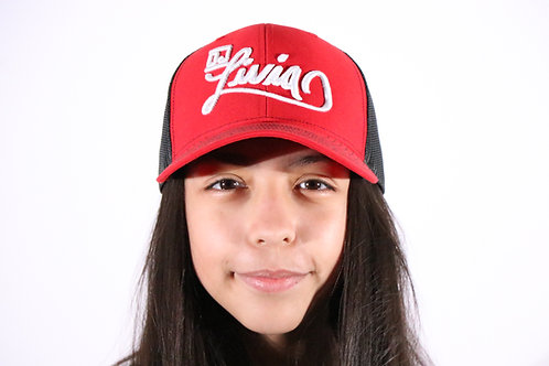 Red & Black DJ Livia Trucker Hat
