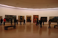 2005년 11월에 중국미술관에서 개최된 새로운시대의 중국유화 회고전01