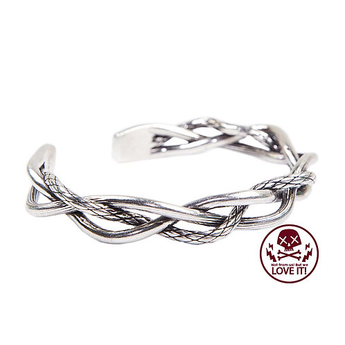 Inox Braid - Braided unisex bracelet (Silver plated with 925 sterling silver)