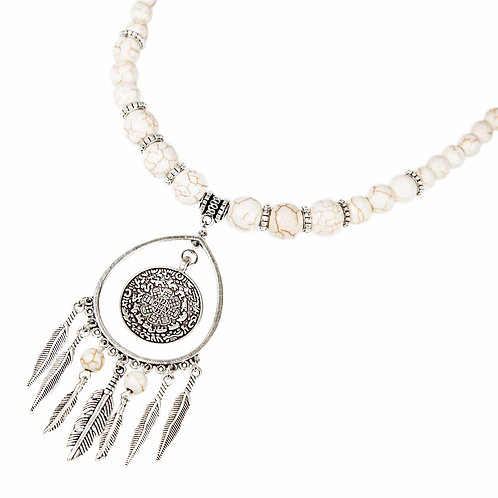 Namida - Ethno Indian Spirit Collar de perlas