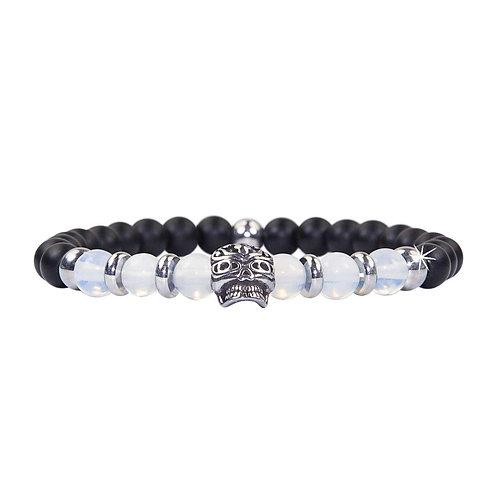 Maori - Moonstone Skull Pearl Bracelet - Combi Bracelet