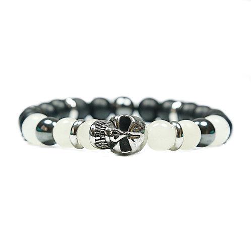 Rebel - Agate Skull Bracelet