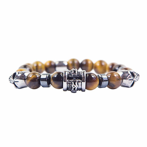 Twilight - modern tiger's eye totem skull bracelet