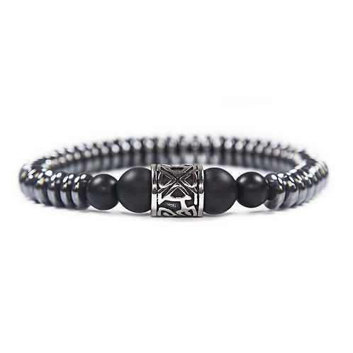 Kehala Giant black - elegantes modernes Edelsteinarmband, Onyx