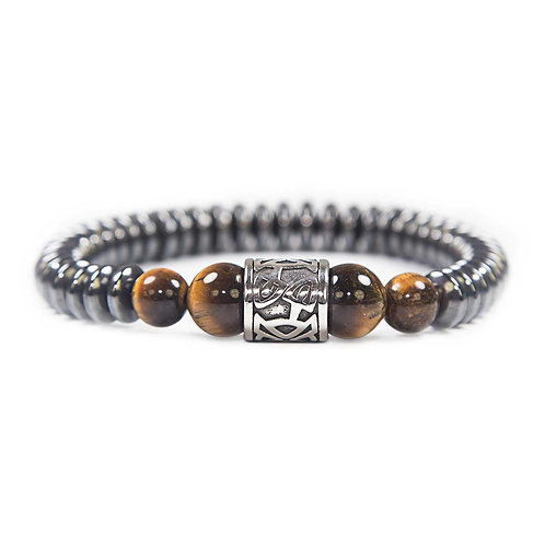 Kehala Giant gold - elegant modern gemstone bracelet, tiger's eye