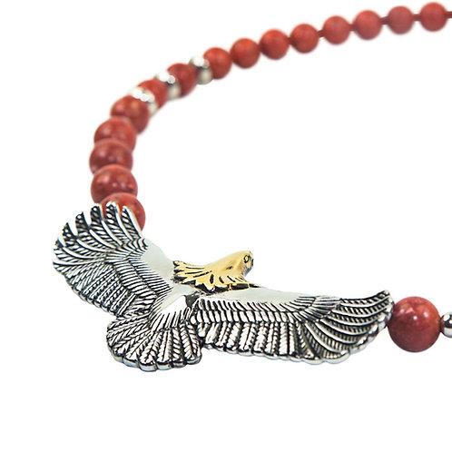 Eagle Coral - Indian Spirit Eagle necklace