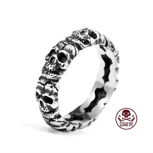 Punk II - Skull stainless steel ring