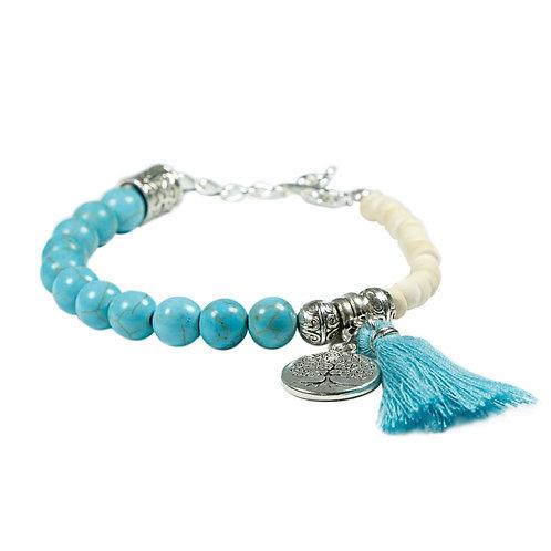 Naapi - Boho Hippie gemstone bracelet Gypsy Ethno
