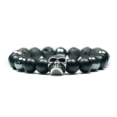 Giant - Onyx Skull Bracelet