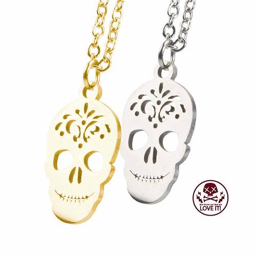 Little Sugar Skull - Totenkopf Halskette aus Edelstahl