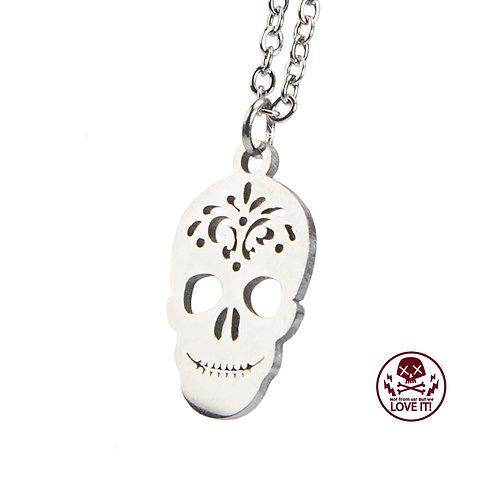 Little Sugar Skull - Collar de acero inoxidable con calavera