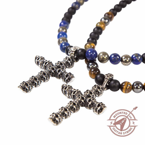 Cross - Biker Totenkopf Halskette