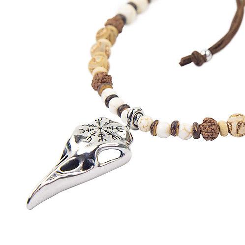 Crow - Ethno Indian Spirit Krähenschädel unisex Kette