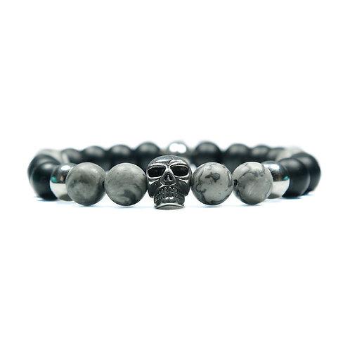 Storm - Jasper Skull Bracelet