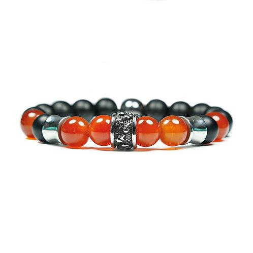 Fourteen - Agate Skull Pearl Bracelet