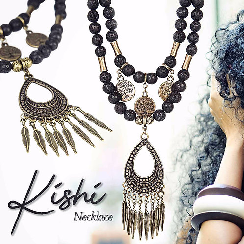 Kishi - Ethnic Boho Hippie Tribal Necklace