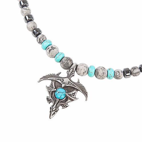 Skyler - Dragon Fénix Unisex collar de perlas