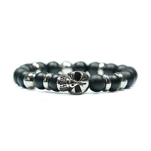 Rebel - Onyx Skull Bracelet