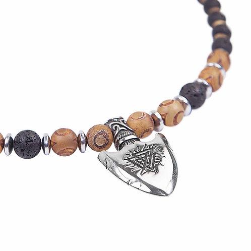 Valknut - arrowhead necklace Vegvisir Wotan's knot Odin's knot.