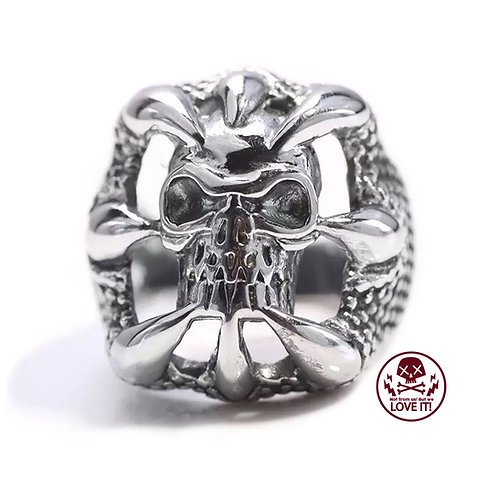 Punk IV - Skull stainless steel ring