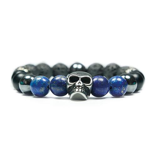Giant - Lapis lazuli Skull Bracelet
