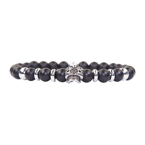 Maori - Onyx skull pearl bracelet - Combi bracelet