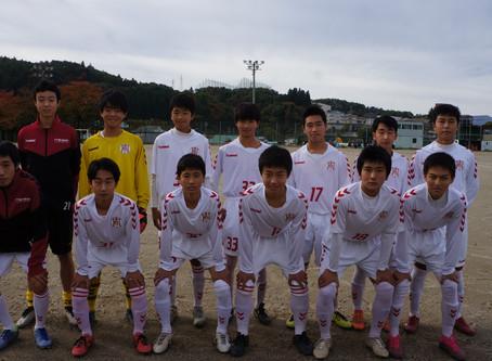 村山地区高等学校サッカー1年生大会が行われました。