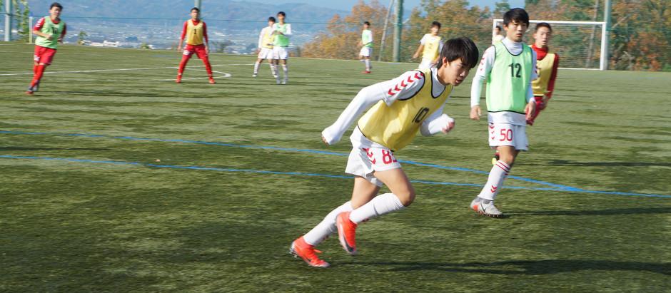 村山地区高等学校サッカー1年生大会が行われます。