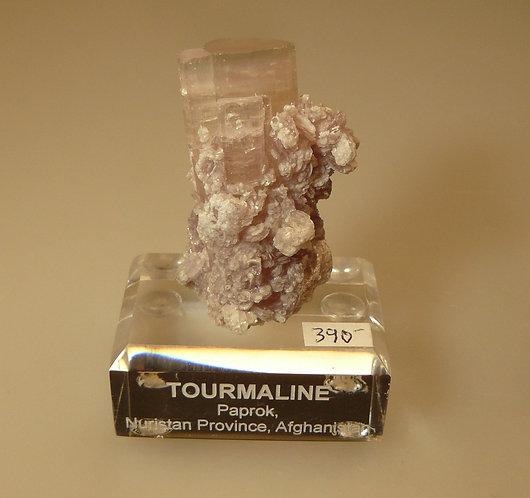 Tourmaline on Lepidolite