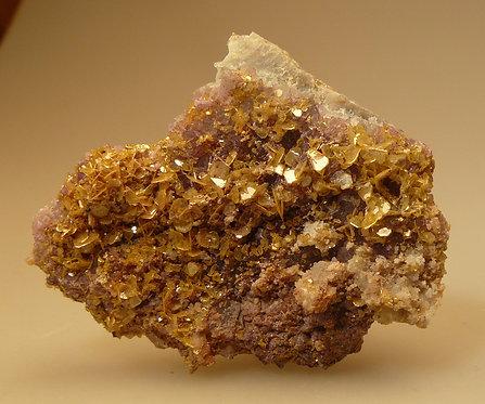 Wulfenite with Fluorite