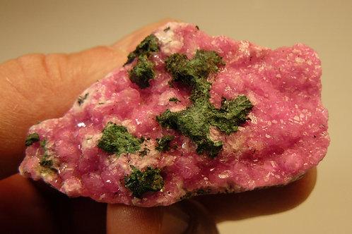 Malachite and Cobalto-calcite