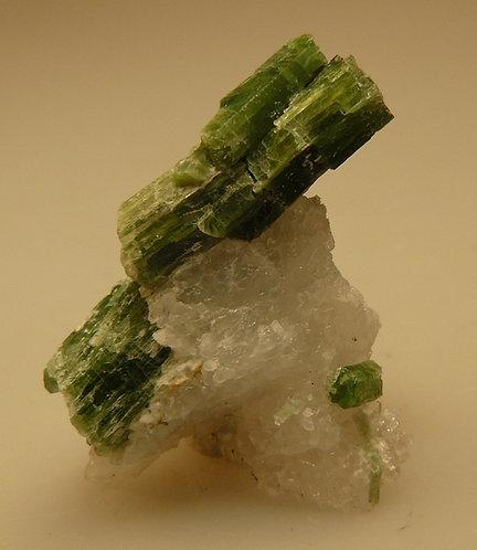 Tremolite (variety Chromium), Quartz, and Phlogopite