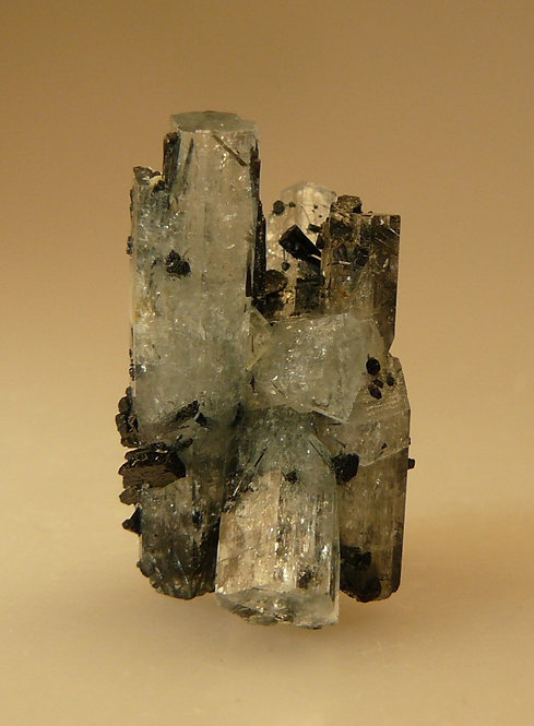 Beryl (variety Aquamarine) with Schorl