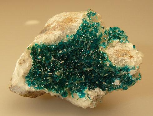 Dioptase, Smithsonite, Calcite
