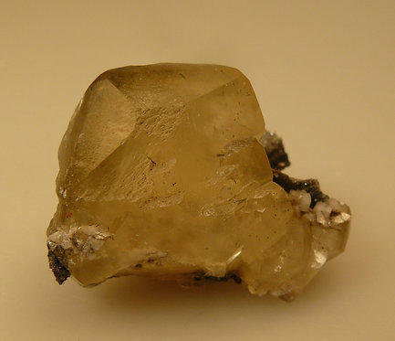 Calcite with Marcasite Inclusions