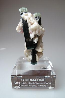 Custom engraved acrylic mineal specimen base
