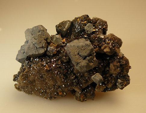 Galena, Sphalerite, Pyrite
