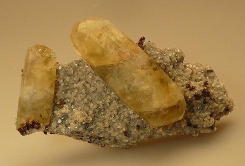 Calcite, Chalcopyrite, Pyrite