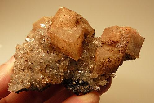 Quartz, Calcite, Hematite