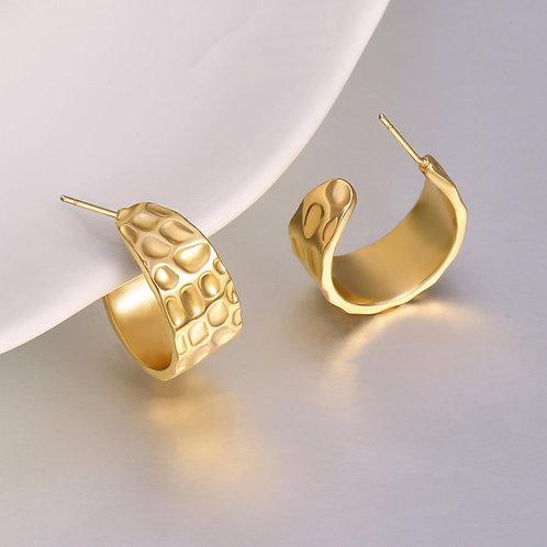Betsy Gold Hoop Earrings