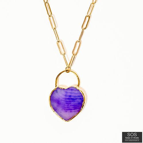 Agate Pendant Heart